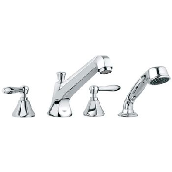 Grohe 25.077.000 Somerset Roman Tub Filler with Personal Hand Shower - Chrome (Pictured w/Handles  Not Included)