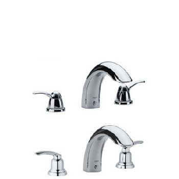 Grohe 25.596.000 Talia Roman Tub Filler - Chrome (Pictured w/Handles  Not Included)