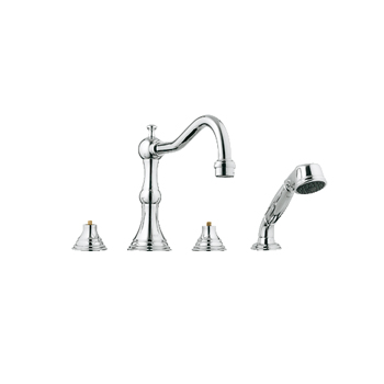 Grohe 25.080.000 Bridgeford Roman Tub Filler w/Personal Hand Shower - Chrome
