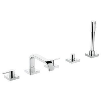 Grohe 25 970 000 Allure Roman Tub Filler Faucet with Personal Hand Shower - Starlight Chrome