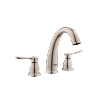 Grohe 25152 EN0 Parkfield 3 Hole Roman Tub Faucet - Brushed Nickel