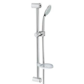 grohe 2726600e euphoria shower set with 24 slide bar with personal hand shower chrome. Black Bedroom Furniture Sets. Home Design Ideas