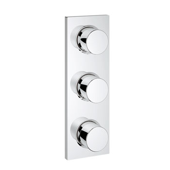 Grohe 27625 000 Triple Volume Control Trim - Chrome