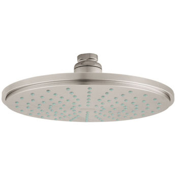grohe 28373en0 rain shower shower head infinity brushed nickel