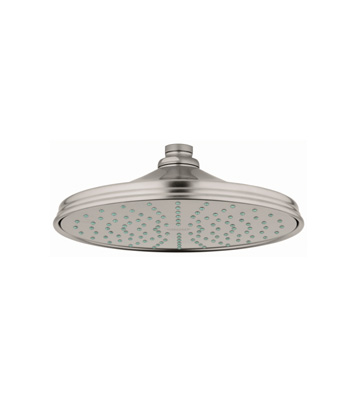 grohe 28375en0 rain shower retro shower head infinity brushed nickel