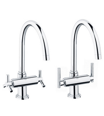 Grohe 31.001.000 Atrio Kitchen/Bar Faucet - Chrome (Pictured w/Handles  Not Included)