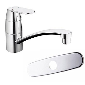 Grohe 31 135 000 Eurosmart Cosmopolitan Single Handle Kitchen Faucet - Starlight Chrome