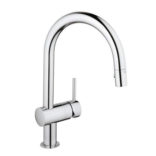 Grohe 31378000 Minta Single Handle Pullout Kitchen Faucet   Chrome