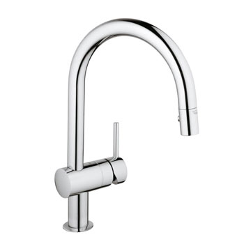 Grohe 31378000 Minta Single Handle Pullout Kitchen Faucet - Chrome