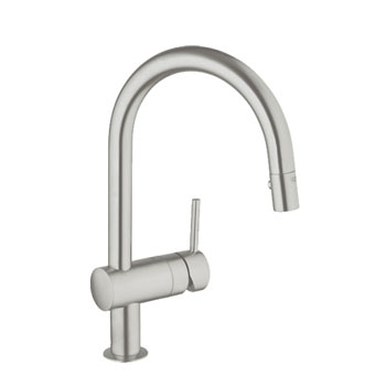 Grohe 31378DC0 Minta Single Handle Pullout Kitchen Faucet - Supersteel