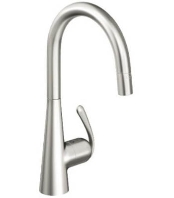 Grohe 32.226.SD0 Ladylux3 Pro Main Sink Dual Spray Pull-Down Kitchen Faucet - Stainless Steel
