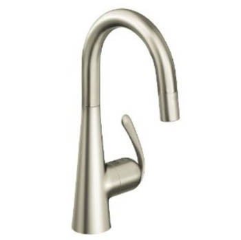 Grohe 32.283.DC0 Ladylux3 Pro Prep Sink Dual Spray Pull-Down Kitchen Faucet - Super Steel