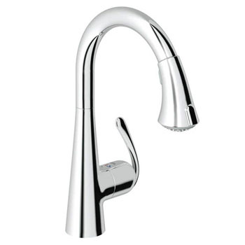 Grohe 32.298.00E Ladylux3 Cafe Dual Spray Pull-Down Kitchen Faucet - Chrome
