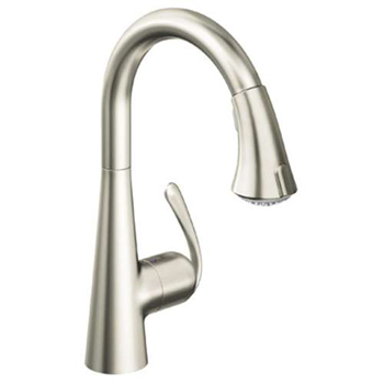 Grohe 32.298.DC0 Ladylux3 Cafe Dual Spray Pull-Down Kitchen Faucet - Super Steel