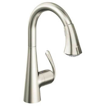 Grohe 32.298.DCE Ladylux3 Cafe Dual Spray Pull-Down Kitchen Faucet - Super Steel