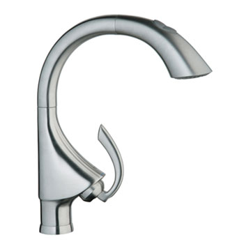Grohe 32.071.000 K4 Main Sink Dual-Spray Pull-Out Kitchen Faucet - Chrome (Pictured in Stainless Steel)