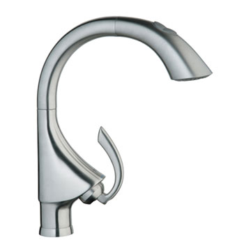 Grohe 32.071.SDE K4 WaterCare Main Sink Dual-Spray Pull-Out Kitchen Faucet - Stainless Steel
