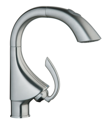 Grohe 32.073.DC0 K4 Prep Sink Dual-Spray Pull-Out Kitchen Faucet - Super Steel (Pictured in Stainless Steel)