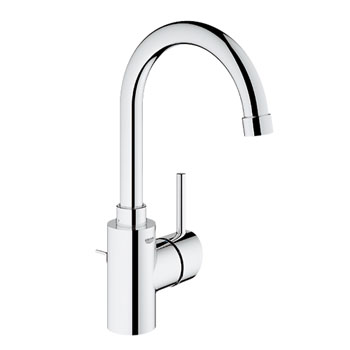 Grohe 32.138.EN1 Concetto High Spout Single Handle Lavatory Centerset - Brushed Nickel (Pictured in Chrome)