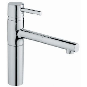 Grohe 32.170.DCE Essence WaterCare Single Spray Pull-Out Kitchen Faucet - SuperSteel Stainless Steel (Pictured in Chrome)