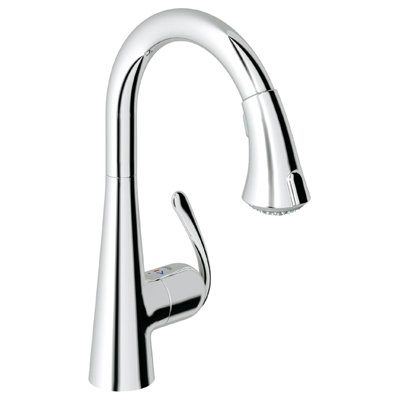 Grohe 32.298.000 Ladylux 3 Main Sink Dual Spray PullDown Faucet - Starlight Chrome