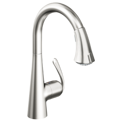 Grohe 32.298.SD0 Ladylux 3 Main Sink Dual Spray PullDown Faucet - Real Steel