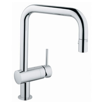 Grohe 32.319.000 Minta Dual Spray Pullout Kitchen Faucet - Chrome