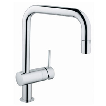 Grohe 32.319.00E Minta WaterCare Dual Spray Pullout Kitchen Faucet - Chrome