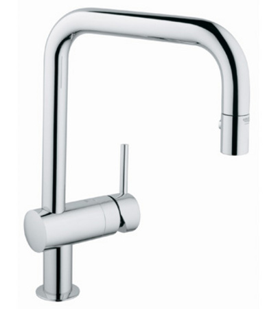 Grohe 32.319.DC0 Minta Dual Spray Pullout Kitchen Faucet - Super Steel (Pictured in Chrome)