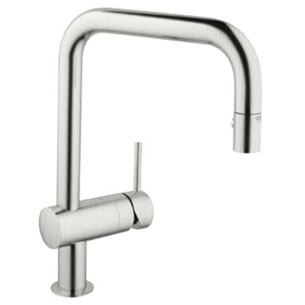 Grohe 32.319.DCE Minta WaterCare Dual Spray Pullout Kitchen Faucet - Super Steel