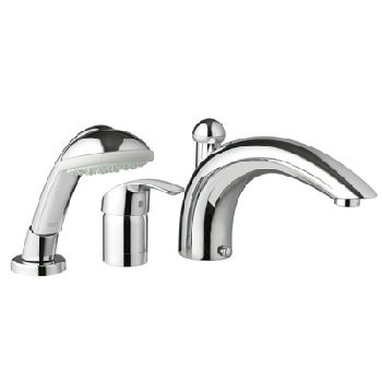 Grohe 32.644.001 Eurosmart Roman Tub Filler with Personal Hand Shower - Chrome