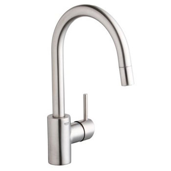 Grohe 32.665.DC1 Concetto Dual Spray Pull Down Kitchen Faucet - Super Steel