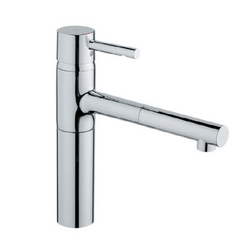Grohe 32.170.DC0 Essence Single Spray Pull-Out Kitchen Faucet - SuperSteel Stainless Steel (Pictured in Chrome)
