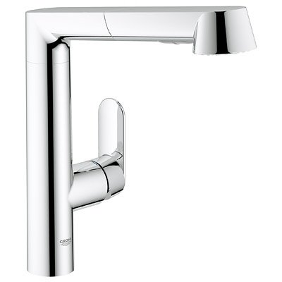 Grohe 3217800E E K7 Kitchen Faucet Single Handle with Pull Out Spray - Starlight Chrome