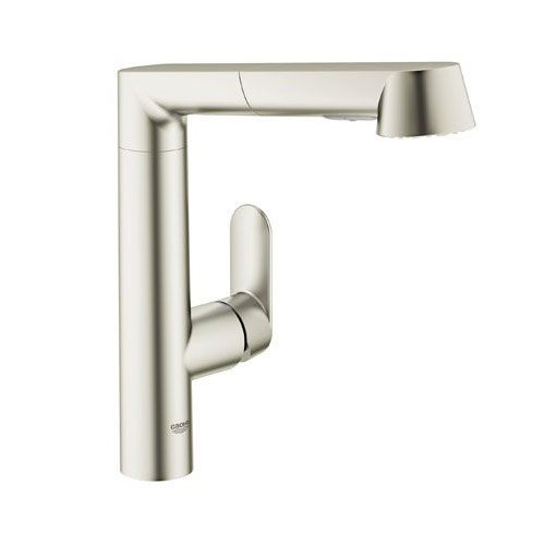 Grohe 32 178 DC0 K7 Single Handle Kitchen Faucet with Pull Out Spray - SuperSteel