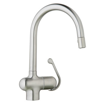 Grohe 32245SDE Ladylux Pro WaterCare Main Sink Dual Spray Pullout Kitchen Faucet - Stainless Steel