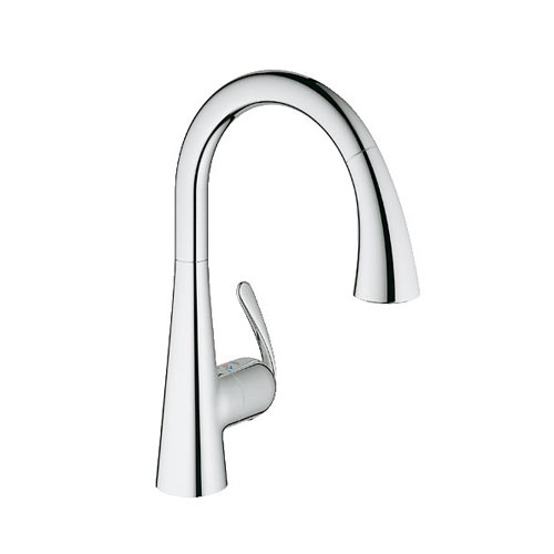 grohe ladylux3 dual spray pulldown kitchen faucet chrome