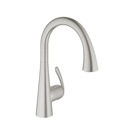 Grohe 32298DC1 Ladylux3 Dual Spray Pull Down Kitchen Faucet   Supersteel