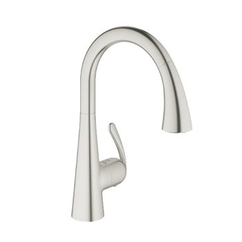 Grohe 32298SD1 Ladylux3 Dual Spray Pull-Down Kitchen Faucet - Stainless Steel