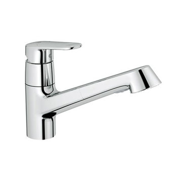 Grohe 32946002 Europlus Dual Spray Pull Out Kitchen Faucet   Starlight  Chrome