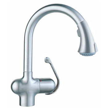 Grohe 33.755.SD0 Ladylux Cafe Pull-Out Kitchen Faucet Solid - Stainless Steel