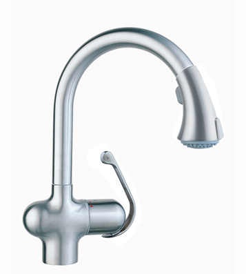 Grohe 33.755.SDE Ladylux Cafe WaterCare Pull-Out Kitchen Faucet - Stainless Steel