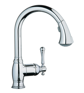 Grohe 33.870.ENE Bridgeford WaterCare Dual Spray Pull-Out Kitchen Faucet - Brushed Nickel (Pictured in Chrome)