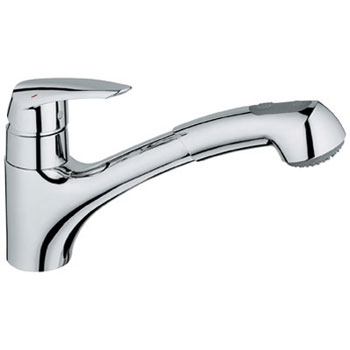 Grohe 33 330 00E Eurodisc WaterCare Dual Spray Pull-Out Kitchen Faucet - Chrome