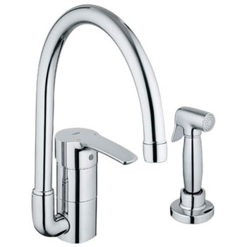 Grohe 3398000E Eurostyle WaterCare Main Sink Kitchen Faucet w/Side Spray - Chrome