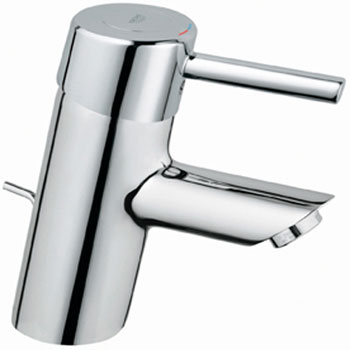 Grohe 34.270.00E Concetto WaterCare Cast Brass Centerset Lavatory Faucet - Chrome