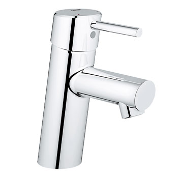 Grohe 34.271.EN1 Concetto Single Handle Lavatory Centerset Faucet Less Drain - Brushed Nickel (Pictured in Chrome)