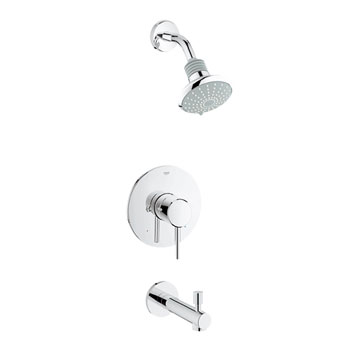 Grohe 35.009.EN1 Concetto Pressure Balance Shower/Tub Trim - Brushed Nickel (Pictured in Chrome)