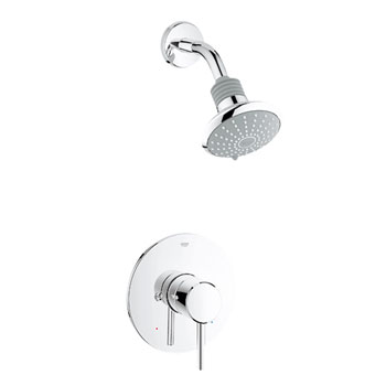 Grohe 35.010.EN1 Concetto Pressure Balance Shower Combination Trim - Brushed Nickel (Pictured in Chrome)