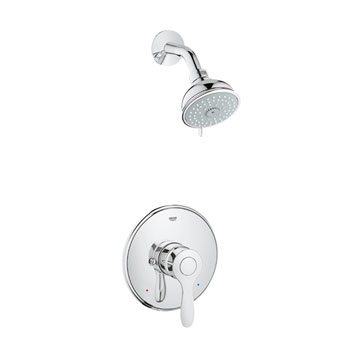 Grohe 35039 000 Parkfield Pressure Balance Valve Shower Combination - Chrome
